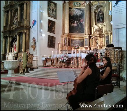 Dúo de cuerda iglesia