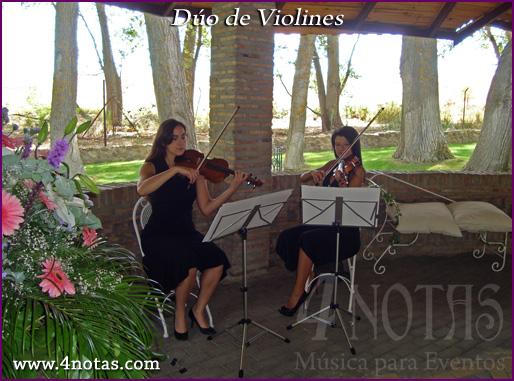 Dúo de violines boda